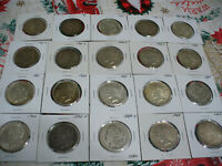 LOT OF  20   MORGAN AND PEACE DOLLAR COINS  ONE 1 $ USA SILVER  .900 PURE