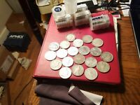 100 PEACE DOLLAR'S CULL  5 ROLLS $100 FACE VALUE 90  SILVER