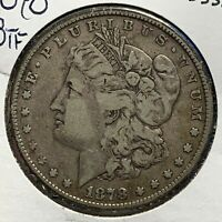 1878 $1 MORGAN SILVER DOLLAR 8TF, EIGHT TAIL FEATHERS 53380