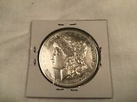 1891S MORGAN SILVER DOLLAR AU UNCIRCULATED, BRIGHT WHITE, PROOF LIKE