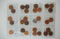 LOT OF GEM BU RED LINCOLN WHEAT CENTS PENNY PENNIES FROM 1950'S