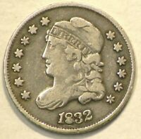 1832 US CAPPED BUST SILVER 1/2 DIME 9954