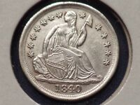 1840 O SEATED LIBERTY HALF DIME UNC DETAILS