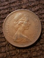 UK BRITISH 2 NEW PENCE 1971 ELIZABETH II FOREIGN COIN /LY