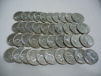 BIG  LOT OF 40 PRE 1967  CANADA   SILVER COINS  QUARTER DOLLARS  25 CENTS