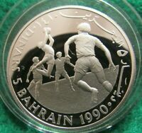 BAHRAIN 5 DINARS 1990 PROOF SILVER COIN SAVE THE CHILDREN KM14