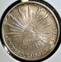 1901 ZS FZ SILVER MEXICAN 1 PESO COIN IN LARGE 2.5