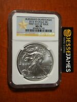 2015 W BURNISHED SILVER EAGLE NGC MS70 FIRST DAY OF ISSUE FDI GOLD STAR LABEL