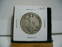 1917  WALKER  LIBERTY WALKING  HALF  DOLLAR   50 CENT PIECE   COIN  17  AUCTION