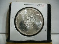 1964  CANADA  SILVER  ONE DOLLAR  COIN   1$   NICE GRADE  1964   19.99  AUCTION