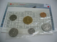 1992  CANADA   PROOF  LIKE SET  COINS  DOLLAR  HALF DOLLAR  QUARTER DIME AUCTION