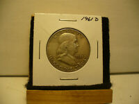 1961 D  BEN FRANKLIN   HALF  DOLLAR      50 CENT PIECE   COIN   61D   AUCTION