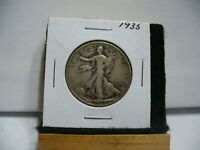1935  WALKER  LIBERTY WALKING  HALF  DOLLAR  50 CENT PIECE  COIN  35  AUCTION