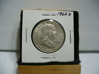 1962 D  BEN FRANKLIN   HALF  DOLLAR      50 CENT PIECE   COIN   62D   AUCTION