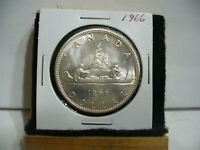 1966  CANADA  SILVER  ONE DOLLAR  COIN   1$   NICE GRADE  1966   19.99  AUCTION