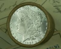 $20 UNCIRCULATED SILVER MORGAN ROLL DOLLAR 1885 & CC ENDS DO