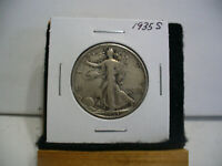 1935 S  WALKER  LIBERTY WALKING  HALF  DOLLAR      50 CENT PIECE   COIN  35S