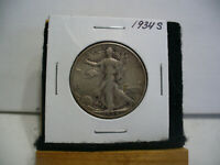 1934 S  WALKER  LIBERTY WALKING  HALF  DOLLAR      50 CENT PIECE   COIN  34S