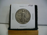 1938  WALKER  LIBERTY WALKING  HALF  DOLLAR      50 CENT PIECE   COIN  38