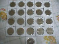 LOT OF 21  CANADA 1968   1986  NICKEL  1 $  ONE  DOLLAR  COINS   SEE PHOTOS