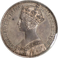 GREAT BRITAIN 1847 VICTORIA PROOF GOTHIC SILVER CROWN PCGS PR 58 UNDERGRADED