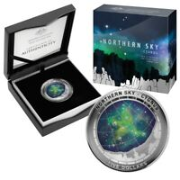 2016 NORTHERN SKY   CYGNUS 1 OZ DOMED SILVER PROOF COIN AUSTRALIA SOLD OUT
