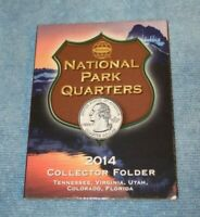 2014 NATIONAL PARK QUARTERS COIN BOOK  WHITMAN
