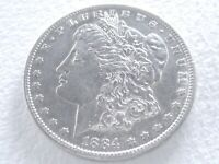 1884-S MORGAN SILVER DOLLAR COIN, EXTREME DETAILS 3-17-I
