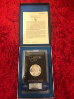 1883 CC MORGAN DOLLAR GSA HOARD MINT STATE 65 NGC SUPER LUSTER BOX AND COA