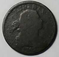 1797 DRAPED BUST LARGE CENT, S-142, R5, AG-G