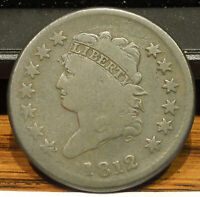 1812 CLASSIC HEAD LARGE CENT   NICE COLOR & DETAIL   NICE COIN