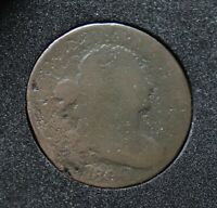 1800 DRAPED BUST LARGE CENT 1800/79 OVERDATE S-196, R1, G
