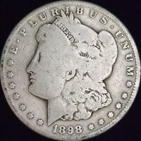 1898-S GOOD MORGAN SILVER DOLLAR
