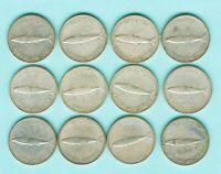 LOT OF 12 1967 CANADIAN SILVER DIMES  NICE COINS NOT SCRAP