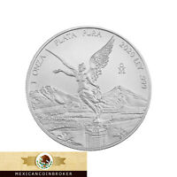 2020 MEXICO 1OZ SILVER LIBERTAD ONZA   BU  TREASURE COIN OF MEXICO