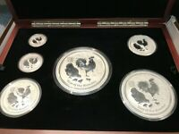 2017 AUSTRALIAN YEAR OF THE ROOSTER  SILVER COIN SET KILO 10