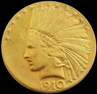 1910 S GOLD UNITED STATES $10 INDIAN HEAD EAGLE COIN SAN FRA