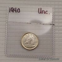 1940 CANADA 10 CENTS SILVER COIN   ALL ITEMS START AT 99 CEN