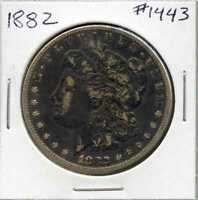 1882 $1 MORGAN SILVER DOLLAR. CIRCULATED. LOT 1121