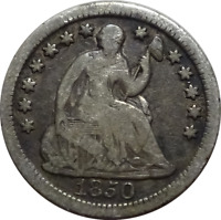 1850-O SEATED LIBERTY HALF DIME