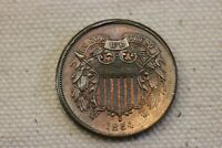 1864 LARGE MOTTO  TWO CENT PIECE HIGH GRADE