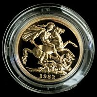 1983 GOLD GREAT BRITAIN 15.92 GRAMS PROOF 2 POUNDS SOVEREIGN