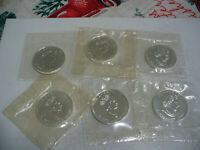 LOT OF 6 SILVER MAPLE LEAF  CANADA   COINS    99.9  SILVER   SEALED COINS  LOT B