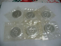 LOT OF 6 SILVER MAPLE LEAF  CANADA   COINS    99.9  SILVER   SEALED COINS  LOT C