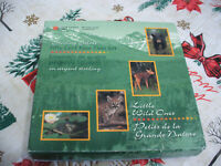 1995   50 CENT PROOF SET  CANADA LITTLE WILD ONES  STERLING SILVER