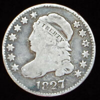 1827 CAPPED BUST DIME  TYPE 1 LARGE DENTILS  ORIGINAL 10C  SHIPS FREE