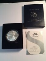 2007 W AMERICAN SILVER EAGLE UNCIRCULATED COIN