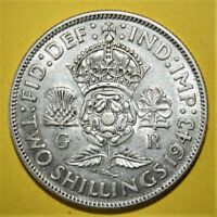 GREAT BRITAIN 2 SHILLINGS 1943 ALMOST UNCIRCULATED SILVER CO