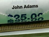 JOHN ADAMS PRESIDENTIAL DOLLAR COIN $25 ROLL - US MINT SEALED UNOPENNED