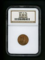1930-S US LINCOLN WHEAT CENT 1C .01 NGC MINT STATE 64 RD RED UNCIRCULATED